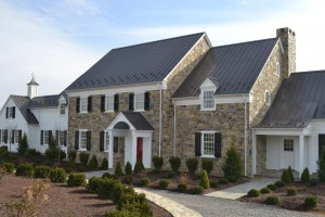 The Baylor House in Lewisburg, Pennsylvania build with local limestone.