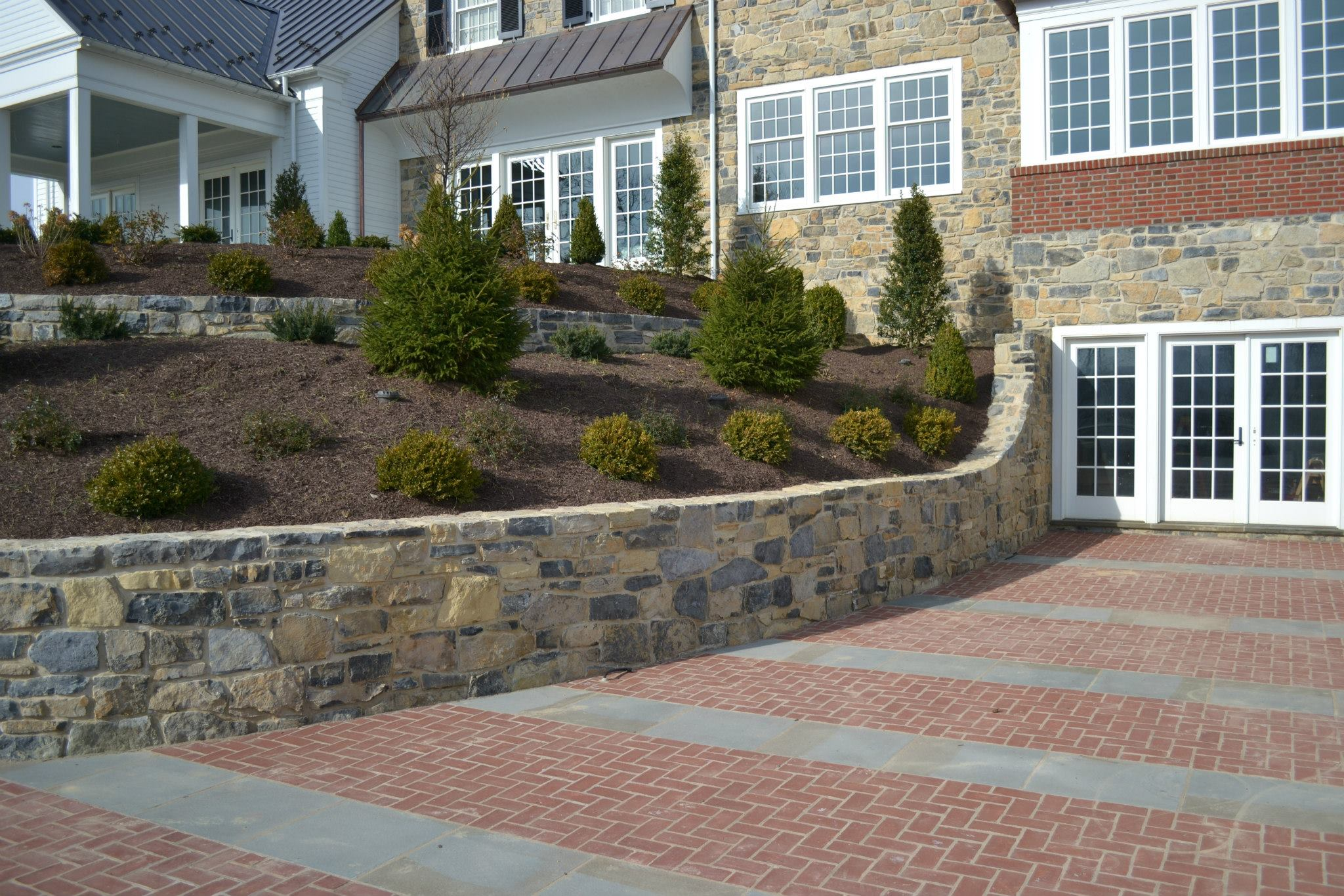 Retaining Wall at the Baylor Residence in Lewisburg, Pennsylvania. Designed by Stephen Lindenmuth.