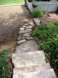A colonial walkway built in Linglestown, PA.
