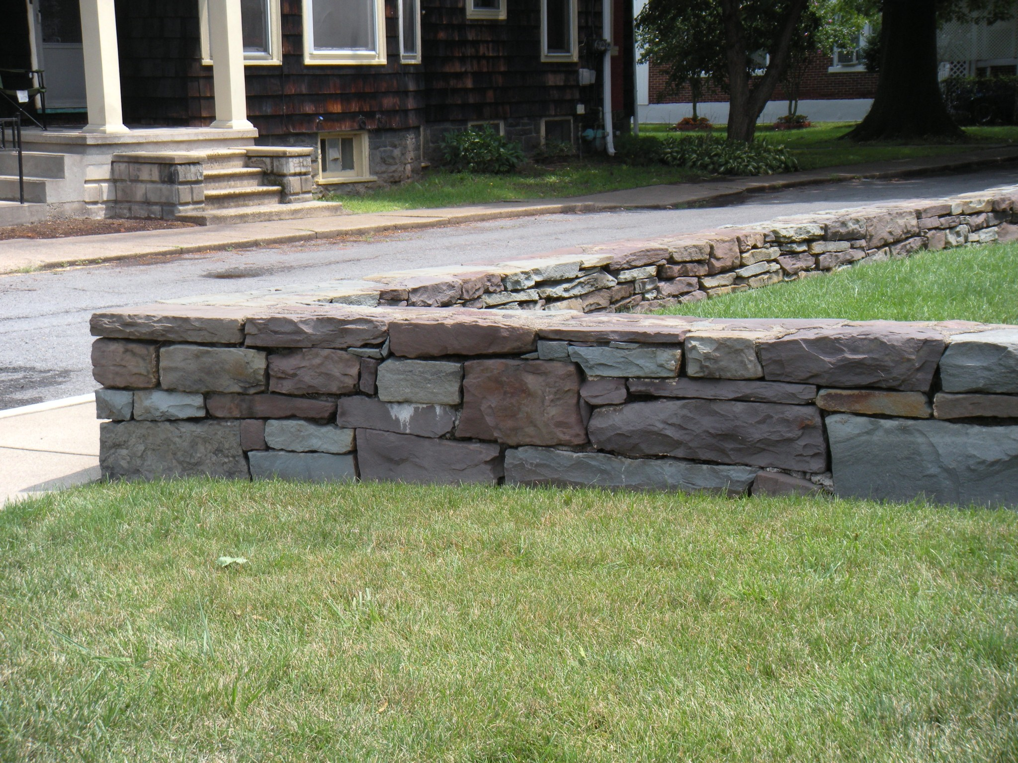 A Retaining Wall at Wahlberg Residence in Sunbury, PA