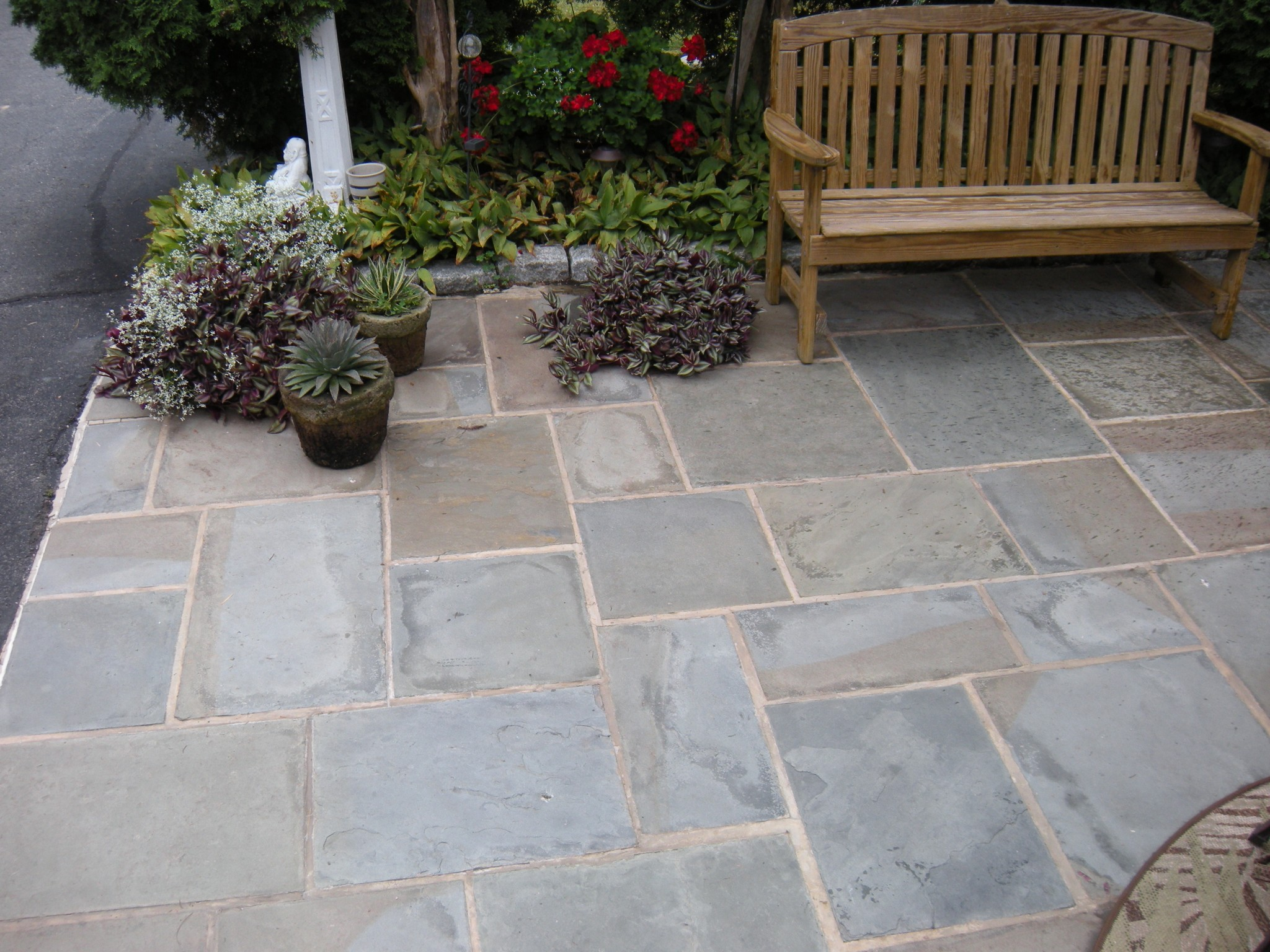 Flagstone Patio at Pyle Residence in Mt. Pleasant Mills, PA.